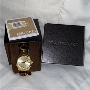 Michael Kors Gold Tortoise Chain Watch - BRAND NEW